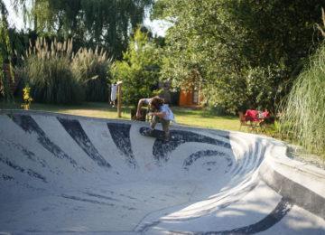 Skatebowl in the garden