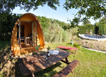 Tent house in the garden