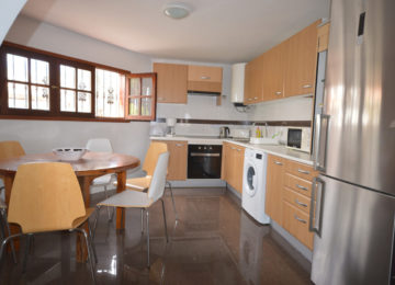Kitchen with round dining table