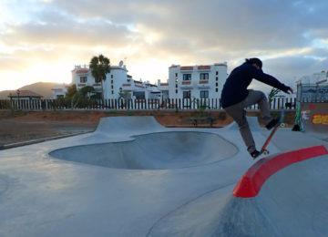 Skatebowl at the camp