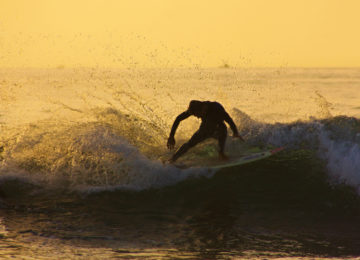Surfer in Welle