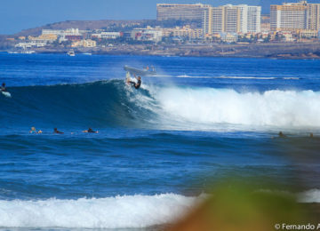Turn Manöver eines Surfers