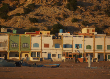 Moroccan houses in the sunlight