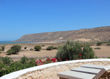 Sicht von der Terrasse zum Meer