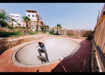 Skatebowl in the property's garden