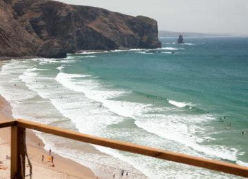 Aussicht auf Surfbucht