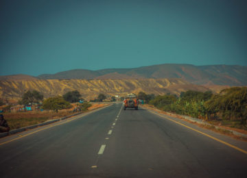 Autofahrt in den Süden Angolas