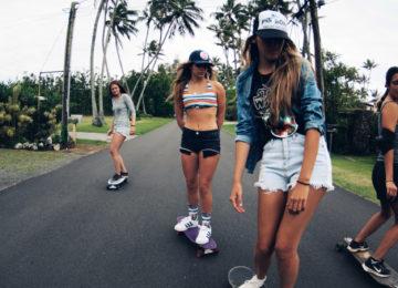 Skatergirls auf Oahu