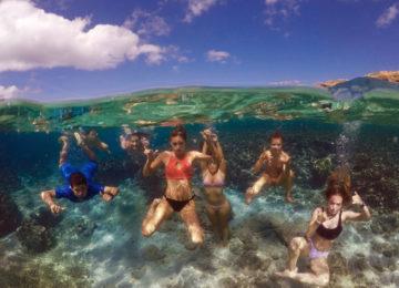 Unterwasser Gruppenbild