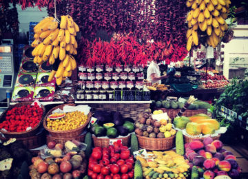Market with fruits