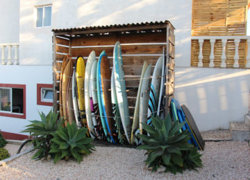 Rental boards in the surf camp