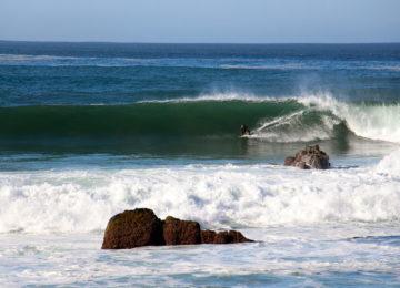 Surfguide surfs big wave