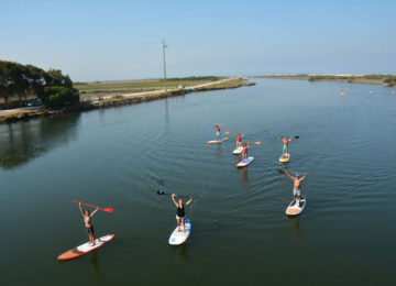 Drone image of SUP drivers