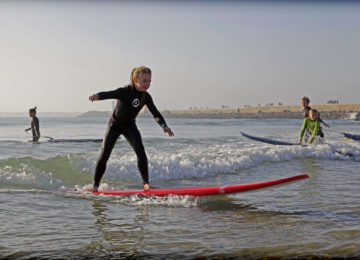 Child on a surfboard