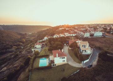 Drohnenbild aufs Surfhaus
