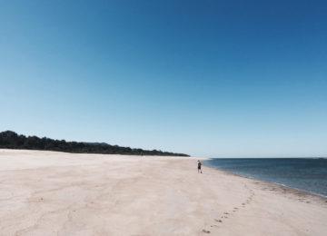 Extrem breiter Sandstrand