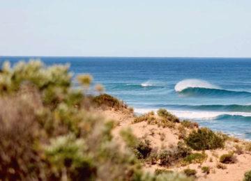 Aussicht auf brechende Wellen