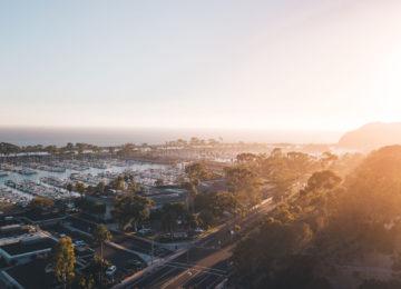 Sonnenuntergang am Hafen in San Clemente