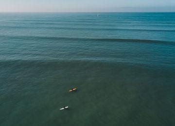 Vogelperspektive auf Surfspot