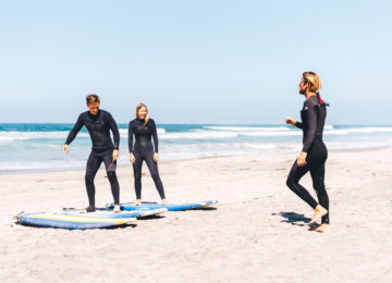 Surfkurs Trockenübung am Strand