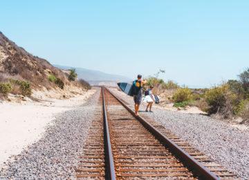 Surfguiding entlang den Gleisen