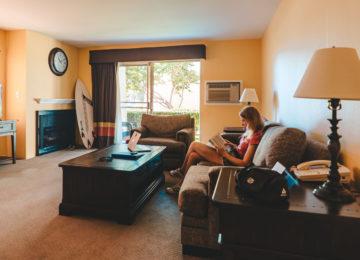 Wohnzimmer im Hotel