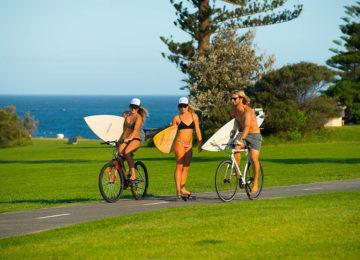 Beachcruise with bike and skate