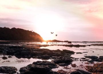 Sunset on the coast of Australia