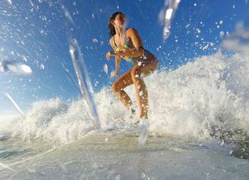 Gopro shot of surfer