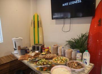 Breakfast buffet at AST Surfcamp