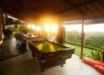Billiard s at Bukit Surfcamp with sunset