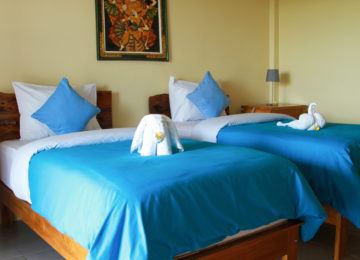 Double room with single beds in Medewi