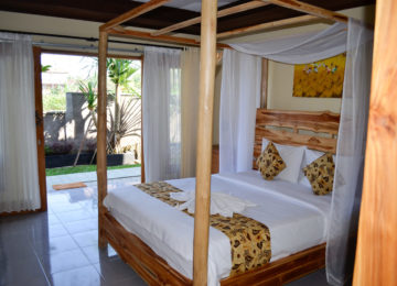 Double room with double bed in Bali