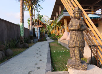 Traditional statue in the entrance area