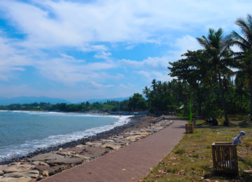 View to the beach in Medewi