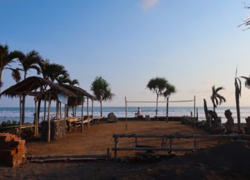 View of the beach area in Medewi