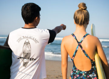 Surfcoach explains the wave at Canggu