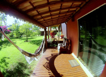 Balkon vom Bungalow