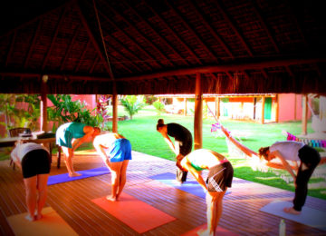 Yoga Lektion auf der Plattform