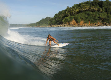 Surfer with Bottom Turn in Nusa Tenggara