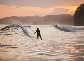 Sunset Surf Session in Sumba