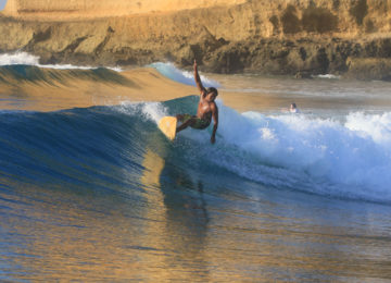 Local Surfer Lombok Indonesien