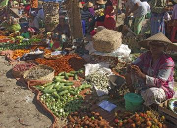 Lokaler Markt auf Lombok