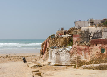 Moroccan houses on the beach
