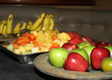 Fruit Plate on the Surf Boat
