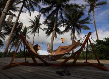 Chilling at Siargao Beach Resort