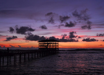 Cloud9 jetty at sunset