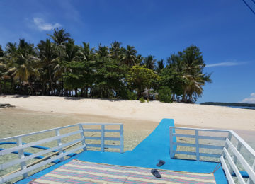 Palmenstrand während Island Hopping