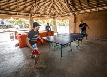 Table tennis at Nemberala Beach Resort