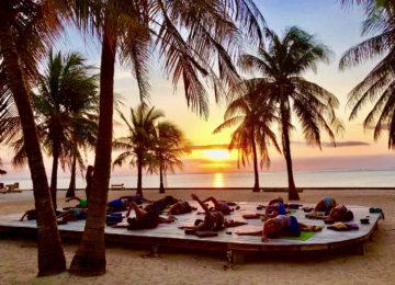 Sunset Yoga Session at Nemberala Beach Resort